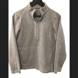 Tommy Bahama  zip pullover heather grey sweater M